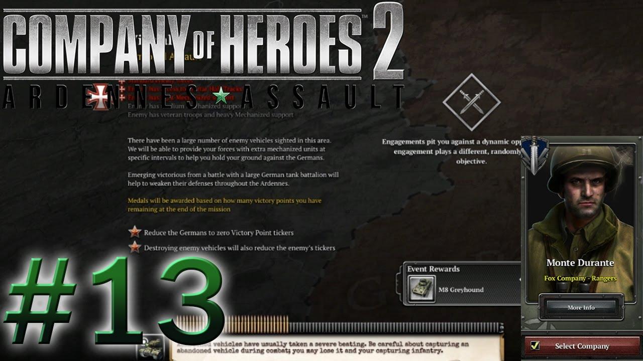 Company Of Heroes 2 Ardennes Assault 13 ไวร สแลม Youtube