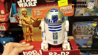 Unboxing TOYS Review/Demos -  Starwars R2-D2 real sounds C-3PO