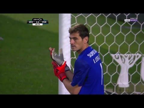 Iker Casillas Vs Sporting Lisbon (Away) Liga NOS 2017/18 1080P