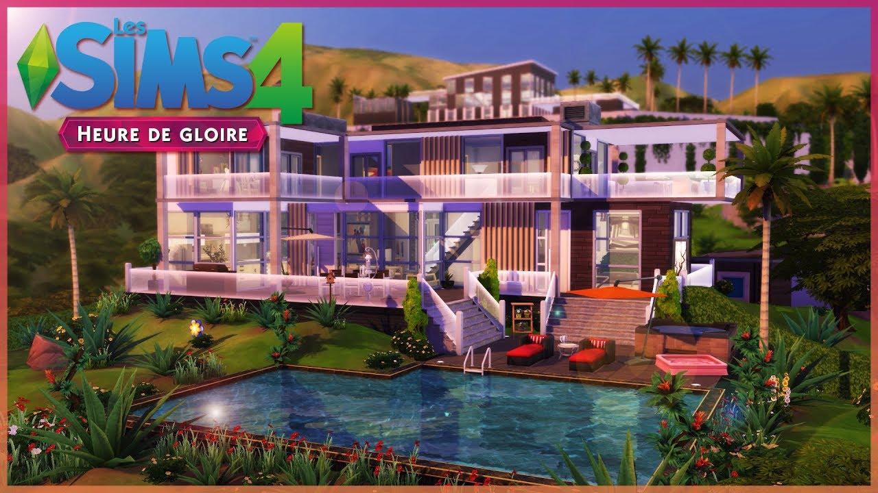Cr ation sims 4 heure de gloire maison californienne speed build youtube for Maison prefabriquee sims 4