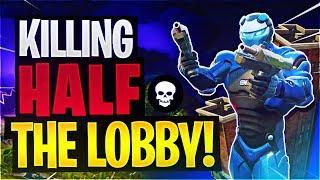 KILLING ALMOST HALF THE LOBBY (Fortnite Battle Royale)