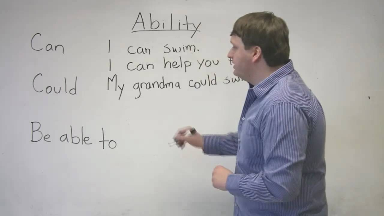 Speaking English Expressing Ability With Can Could Be Able To