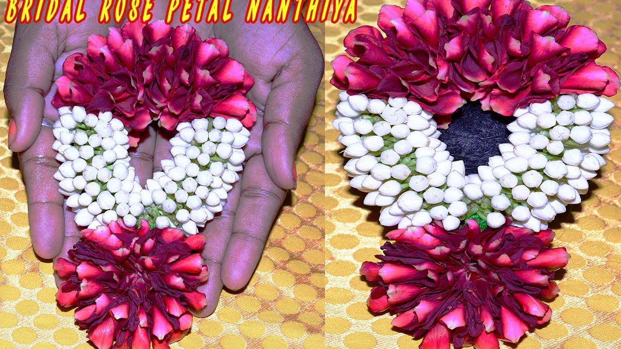 How to rose petal latest wedding garland with thai jasmine amazing wedding Decore easy home made garland More Flowers Making Videos watch Subscribe this chan...