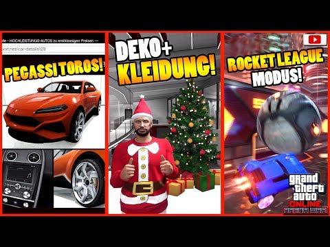 🎄ALLE Neuen Inhalte! Toros, Kleidung, Rocket League Modus!🎄[GTA 5 Online Arena War Update DLC] thumbnail