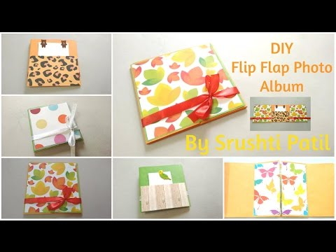 Diy Flip Flap Mini Photo Album Tutorial By Srushti Patil Card