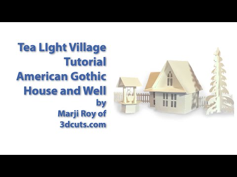 Tea Light Village American Gothic House Tutorial