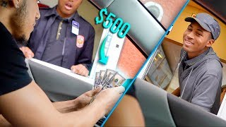 TIPPING FAST FOOD WORKERS $500 ON CHRISTMAS! *EMOTIONAL REACTIONS*