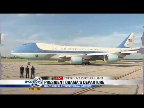 President Obama departs from South Bend International Airport