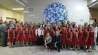 Apresentação do Coral Sinfônico Infantil da Paraíba no TRE-PB na cerimônia de inauguração do Espaço Viver.