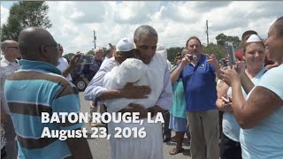 Obama Tours Baton Rouge Flood Damage