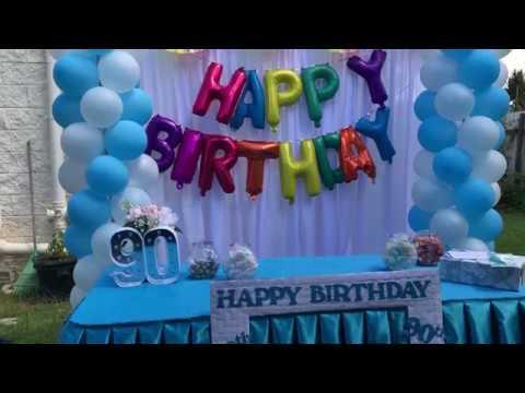 Grandma S 90th Birthday Party Decor Youtube
