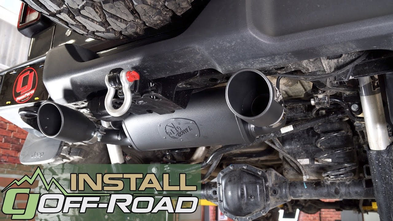 2018 2020 jeep wrangler jl afe rebel axle back exhaust with dual tip install