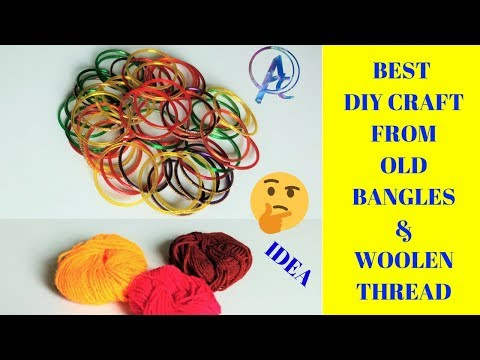 Best diy craft from old Bangles and woolen thread | best out of waste | wall hanging best home decor