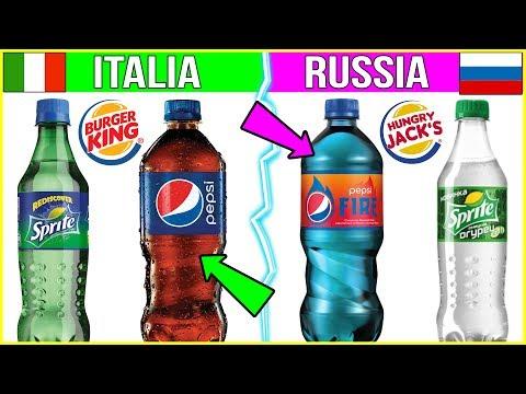 COME CAMBIA IL CIBO NEGLI ALTRI PAESI 🍔 Pepsi , Burger King , Gelati ecc....