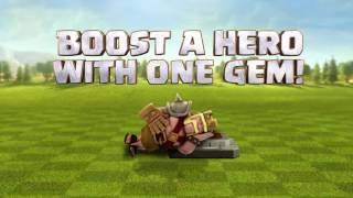 Clash of clans new update! 1 gem hero boost 2017 valentines day update