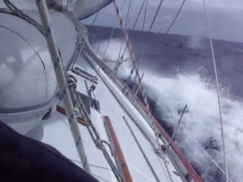 Caribbean Sailing Repo Trip SXM   Grenada Mar 2010 Rough weather Guadeloupe