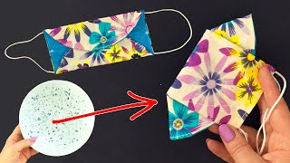 Easy Face Mask in 5 minutes NO FOG ON GLASSES NEW version 3D face mask at home Sewing tutorial