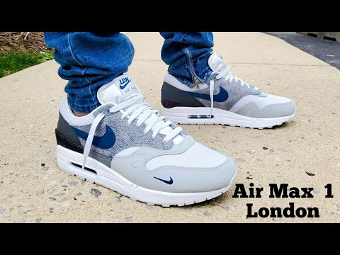 Nike Air Max 1 London City Pack Unboxing On Feet Youtube