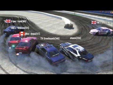 GTA 5 FiveM Jump Drifting Off Buildings??!! 6 Man Tandem Trains In Drone Cam! (Velocity Server)