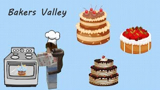 Baking and Creating Cakes - Bakers Valley ROBLOX