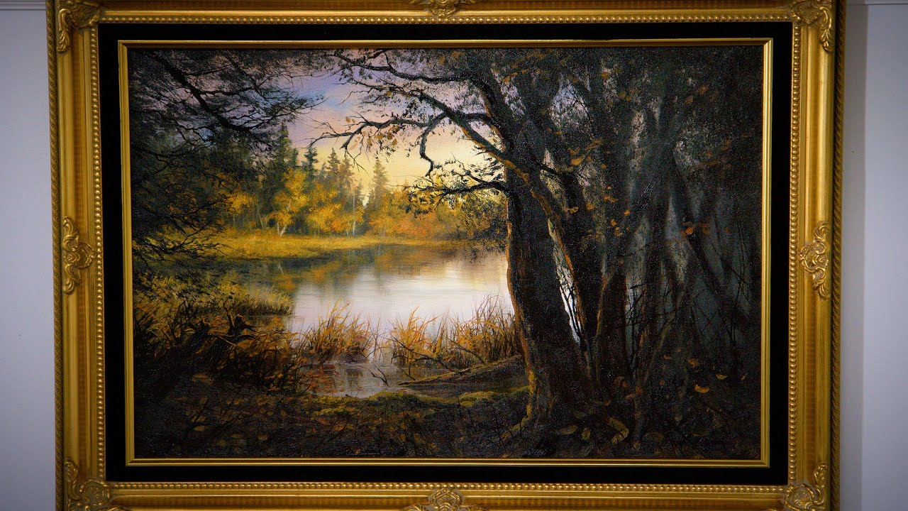 Sunset Forest Lake - Oil Painting Demo