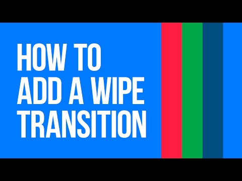 How to add a wipe transition to your video with VSDC Free