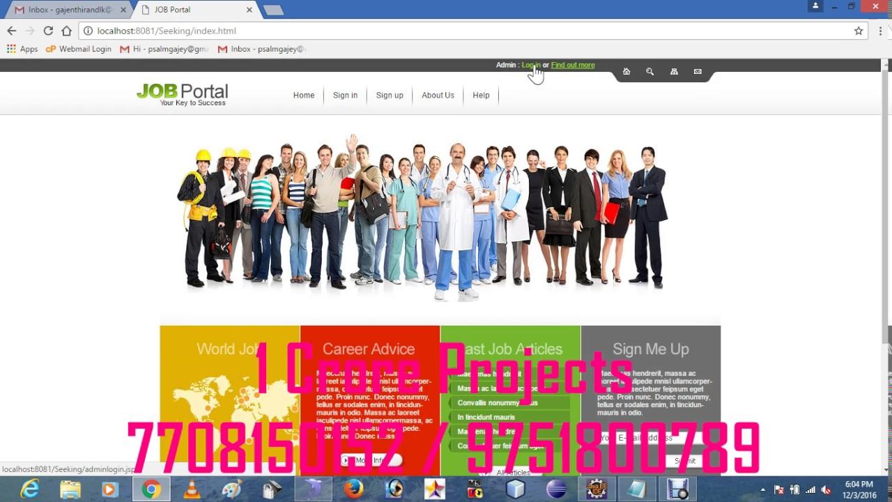 Online Job Portal Seeking Projects in Java