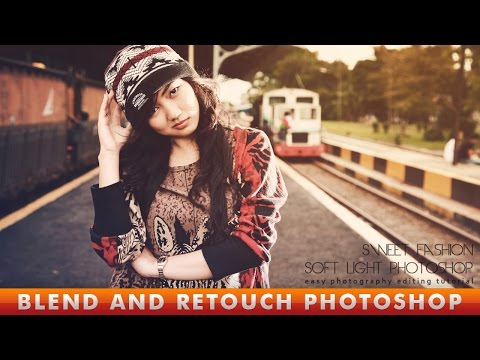 Photoshop CC Tutorial | Blend And Retouch Soft Light Effect