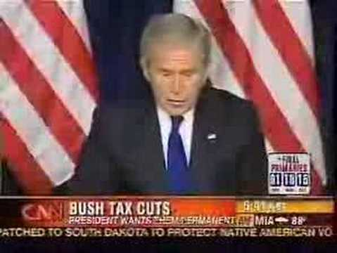 Bush On Tax Cuts