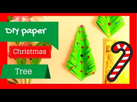 DIY christmas tree from paper| how to make easy handmade decor/decorations at home 2018| Desi Soni