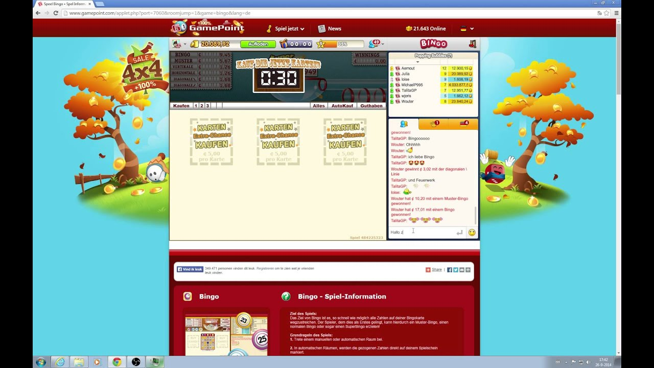 Bingo Deutsch Cheats