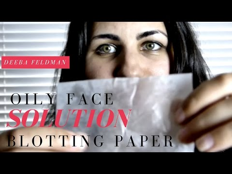 Oily Skin Hack: How to Get Rid of Oil From Your Face. Testing Blotting Paper.