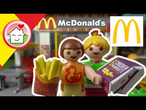 Playmobil en espa ol en el mcdonalds la familia hauser - Playmobil basteln ...