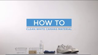 ANDRROWS - How to Clean White Canvas Material