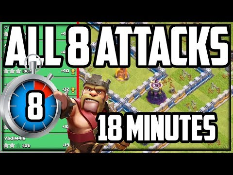 ALL 8 Legend League Attacks In 18 MINUTES! Clash Of Clans