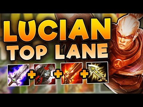 NEW KOREAN META! HOW STUPID IS LUCIAN TOP!? FULL AD LUCIAN TOP SEASON 7 - League Of Legends Gameplay