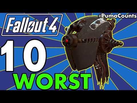 Top 10 Worst Guns and Weapons in Fallout 4 Including DLC (Redux) #PumaCounts
