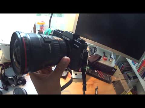 Test the sharpness of manual focus from 17-40 canon lens in fuji x-t10