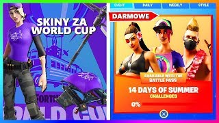 SKINS FOR WORLD CUP | 14 DAYS FORTNITE | ABOUT THE NEW WEAPON