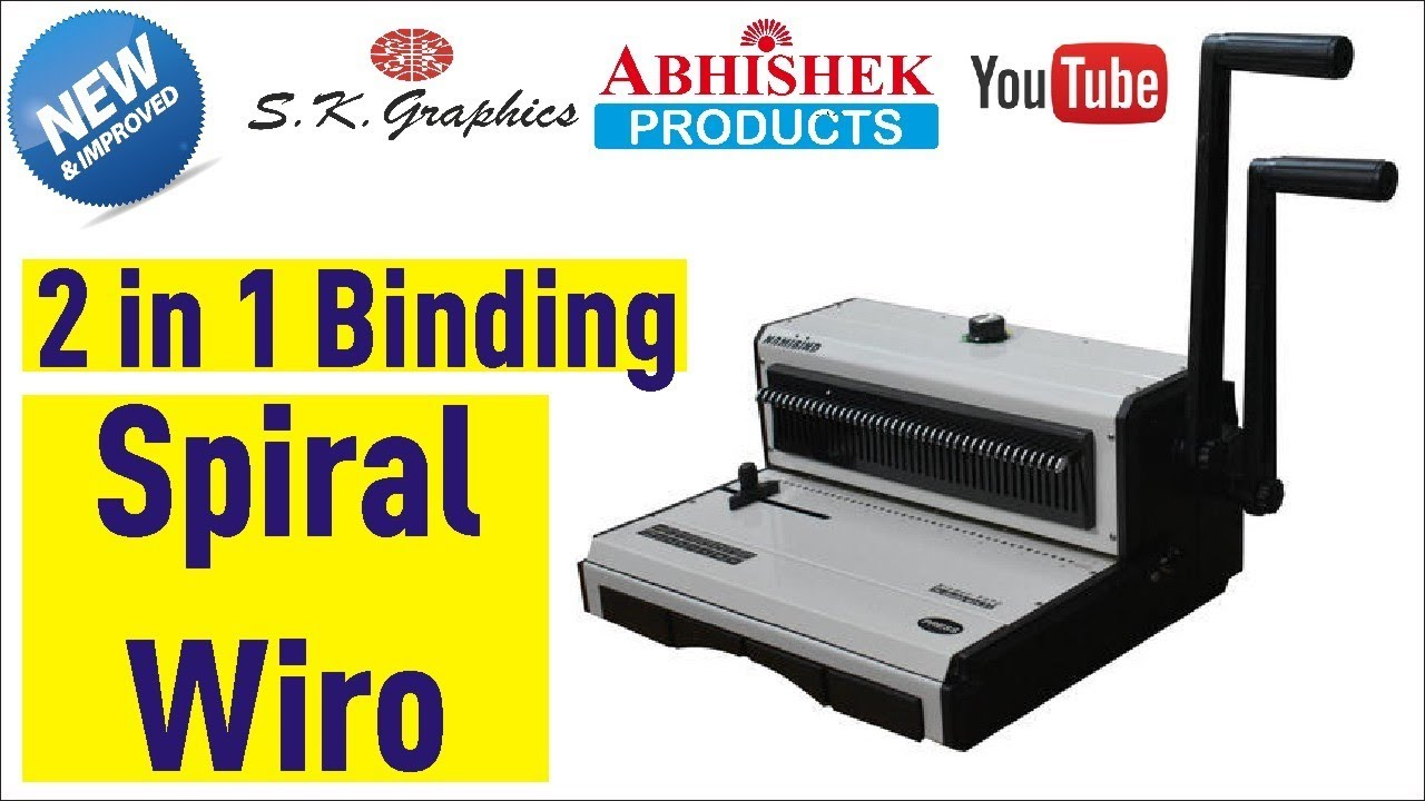 Up to 20 CFS Products Manual Binding Punch Pages 4:1 Pitch School or Business Binding Coil-Binding Machine with Electric Coil Inserter for Personal Home