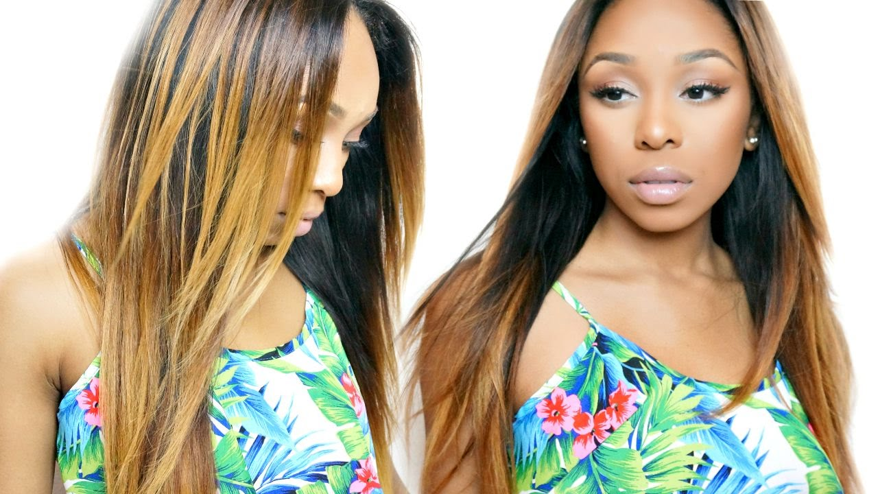 How To From Black To The Perfect Blonde Ombre Youtube