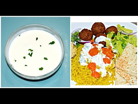 [NEW YORK] HALAL Cart White Sauce   New York Halal Cart Recipe - White Sauce
