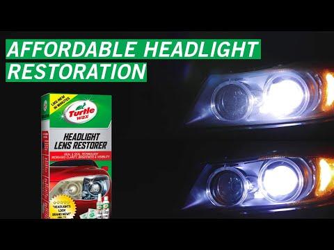 Easy Headlight Restoration with Headlight Lens Restorer Kit   Turtle Wax