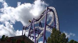 Green Lantern Six Flags Magic Mountain POV Roller Coaster Insane Grona Lund