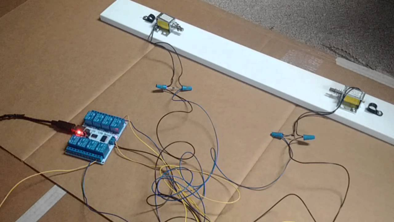 Pinball Wiring Diagrams Up Solenoids Dof To A Visual Cabinet Youtube Aircraft