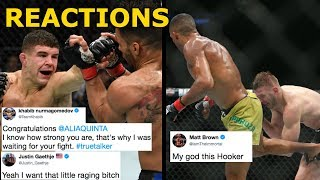 MMA Reacts to Al Iaquinta's Win vs Kevin Lee   Edson Barboza TKO Dan Hooker - UFC Milwaukee