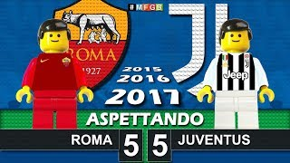 Road To: Roma Juventus • 37^ Serie A 2017/18 • Aspettando Roma Juve in Lego Calcio Goals Highlights