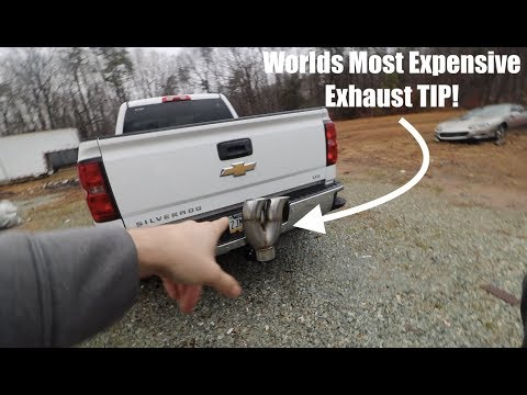 The WORLDS MOST EXPENSIVE DIESEL EXHAUST TIP!!!!!!!!