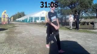 Bieg Św. Huberta 2019 - zapis filmowy mety, z zegarem odmierzającym czas biegu...