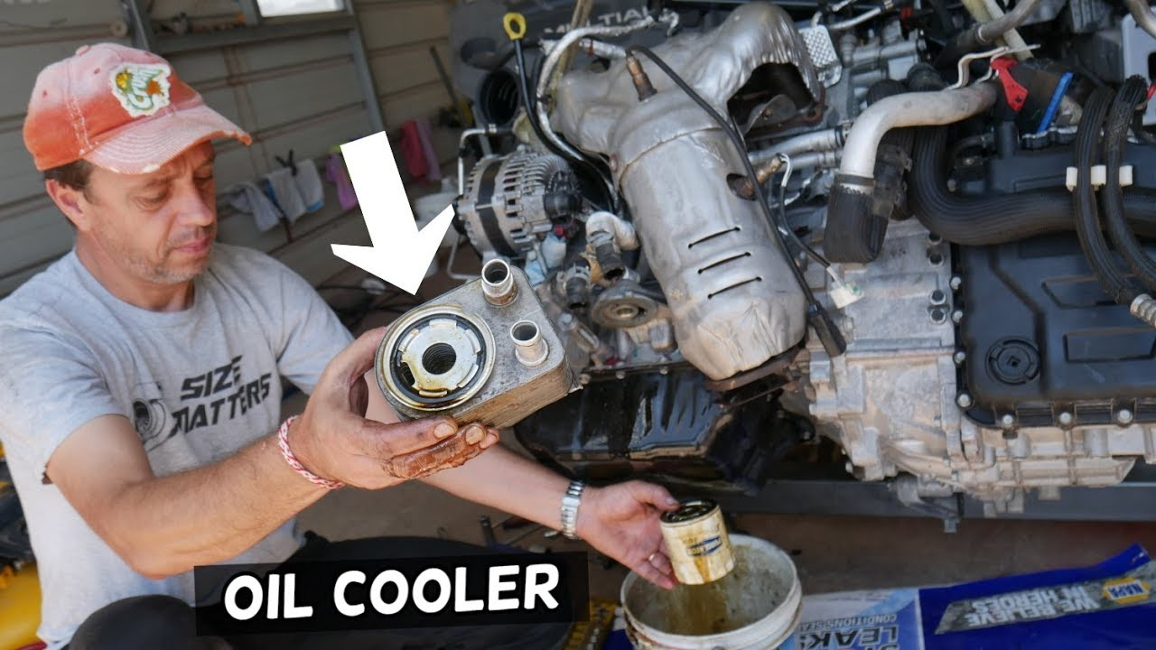 Oil Cooler Filter Housing Replacement Removal Oil Leak Jeep